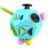 WeBeauties Zappeln Würfel Spielzeug-12-Side Zappeln Dodecagon Lindert Stress und Angst Anti Depression Magic Cube Figet Spielzeug Squeeze Fun Stressabbau (Blau)