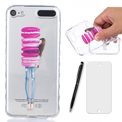 Preisvergleich Produktbild Lotuslnn Hülle iPod Touch 5 / 6 silikon avec Fille hamburger conception - iPod Touch 5th / 6th Schutzhülle Etui en Rose Transparent