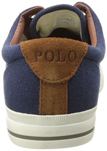 Ralph Lauren Mens Vaughn Canvas Trainers Indaco