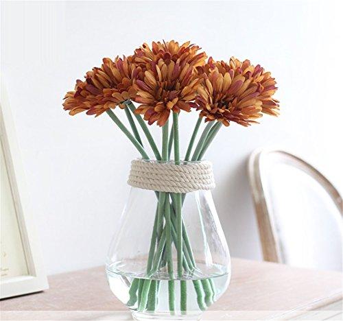 NOHOPE Crisantemo minimalista fiore di emulazione di vasi in vetro Suit Home Decor fiore - Vetro Abbellimenti
