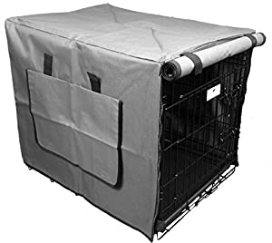 Settledown Waterproof Dog Crate Cover, 36-Inch, Grey
