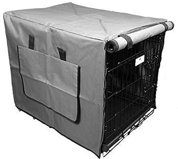 Settledown Housse de cage pour chien étanche, 76,2cm, gris