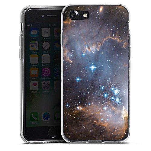 Apple iPhone X Silikon Hülle Case Schutzhülle Sterne Galaxie Universum Silikon Case transparent