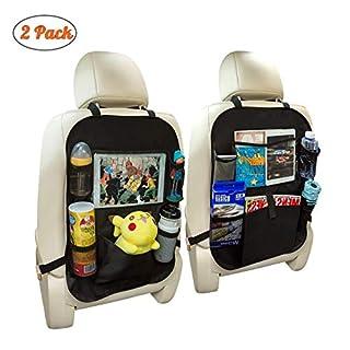 [2pièces] omorc Protection Siège auto enfant, support iPad/tablette, multi-tasca, imperméable, Accessoire de voyage pour enfants