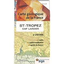 Carte géologique : St-Tropez - Cap Lardier