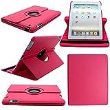 Perfekte Wahl Elegant Fällen für Apple iPad 2/iPad 3/iPad 4-360drehbar PU Leder Ständer Schutzhülle = Uni Rosa