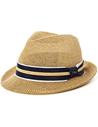 cc1610616eb SiggiHat Panama Summer Fedora Trilby Straw Sun Hats For Men Safari Beach Hat  - Foldable