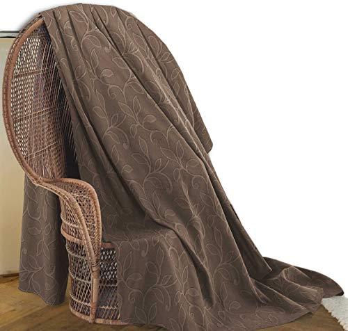Telo arredo 4 colori copritutto 2 misure foulard multiuso telo copridivano ramato ramage floreale classico - beige - due posti