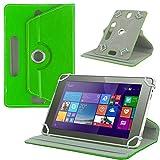 NAUC Tasche Hülle für ODYS Ieos Quad 10 Pro Schutzhülle Tablet Cover Case Bag Etui, Modellauswahl:Grün 360° mit Univ. Kameraausschnitt