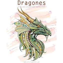 Dragones libro para colorear para adultos 1 & 2