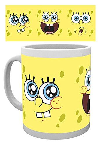 empireposter - Spongebob - Expressions - Größe (cm), ca. Ø8,5 H9,5 - Lizenz Tassen, NEU -...