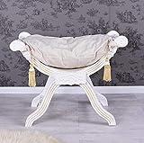 Barocke Sitzgondel Hocker Louis XV Antik Weiß Shabby Chic - Palazzo Exclusive