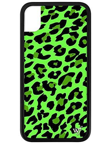 Schutzhülle für iPhone XR, Motiv Wildflower Limited Edition, Neon Green Leopard (iPhone XR)