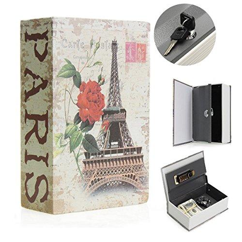 SAFEPRINT Tyon Vintage libro Caja fuerte con llave, libro de caudales oculta en el diccionario resistente...