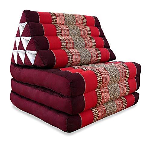 Asia Wohnstudio Thaikissen der Marke, Thaikissen mit 3 Auflagen, asiatisches Dreieckskissen, orientalisches Sitzkissen als Sitzsack für Entspannung und Wellness, (pink)