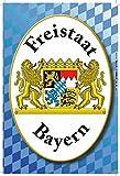 Freistaat Bayern mit wappen, blau weiß, schild aus blech, tin sign,