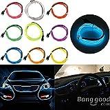 Bazaar 1M USB Flexible Neon EL Draht LED Streifen Licht Glühen Seil Schlauch Partei Dekoration mit Inverter 5V