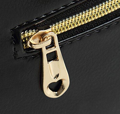 KISS GOLD (TM) Motif Luxe de Diamond Mini Sac Epaule/Sac à Main en PU Cuir pour Filles Rouge