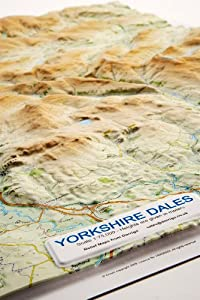 Yorkshire Dales Relief Map: Dark Wood Frame (Raised Relief Maps Series)