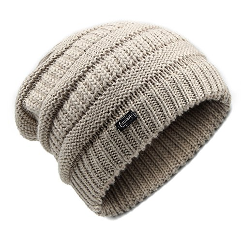 0200eaf841a YANIBEST Wool Slouch Beanie Hats For Women - Ladies Knitted Baggy Chunky  Ski Hat