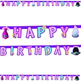 DreamWorks 49877 Trolle Party Dekoration Banner Happy Birthday