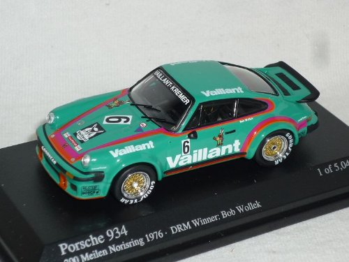 Minichamps Porsche 911 934 GrÜn Vaillant 300 Meilen Norisring 1976 1/64 Modell Auto Modellauto (Miniatur 1 64)