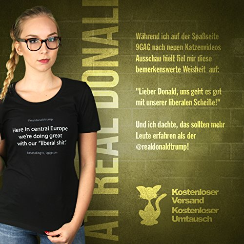 At Real Donald Trump - Damen T-Shirt von Kater Likoli Deep Black