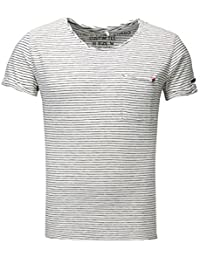 Key Largo Hombres T-Shirt Strange Bolsillo EN el Pecho Rayado Gaza Tapeta lanxoASP