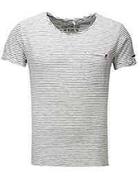 Key Largo Hombres T-Shirt Strange Bolsillo EN el Pecho Rayado Gaza Tapeta