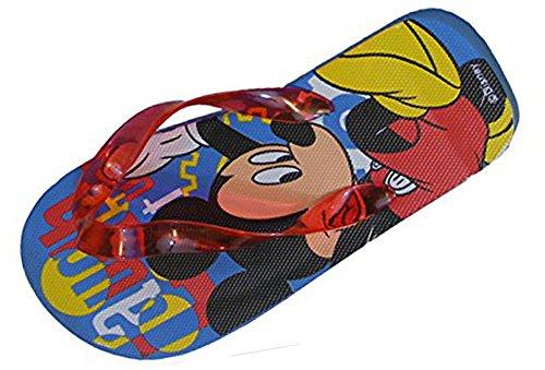 Jungen Disney Mickey Maus Flip Flops Zehentrenner Sandalen Kinder.