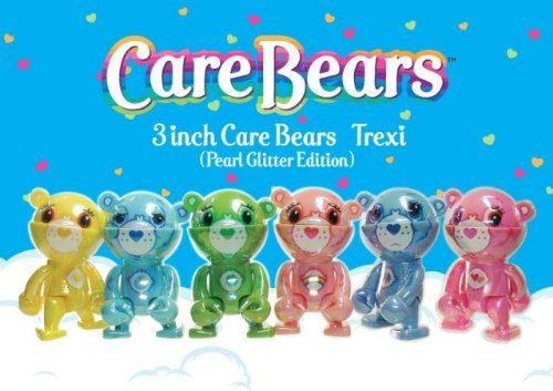 care-bears-trexi-set-of-all-6-pearl-glitter-edition-carebears-vinyl-mini-figures