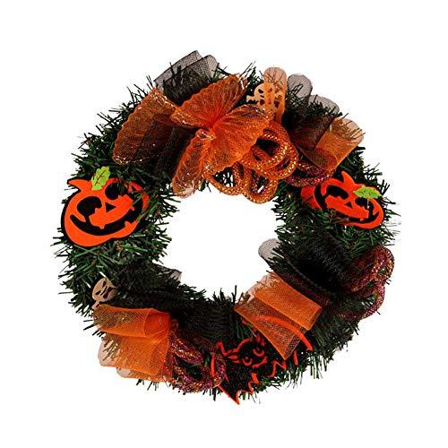 Halloween Kränze - Wateralone Halloween Kranz Kürbis Kranz Weihnachten