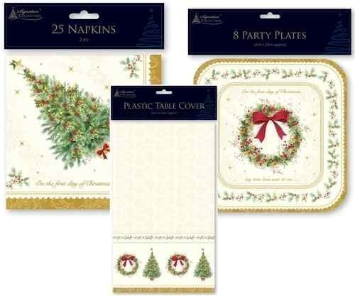 Price comparison product image Pack Of 25 Festive Season Traditional Christmas Table 2 Ply Napkin Serviettes