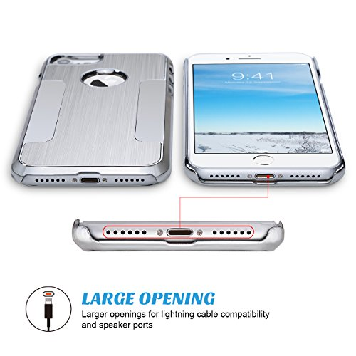 iPhone 7 Hülle, ULAK iPhone 7 4,7 Zoll Hülle Silber Luxus Chrom Hybrid Hart Schutzhülle Case Cover für Apple iPhone 7 4,7 Zoll (Silber) Silber