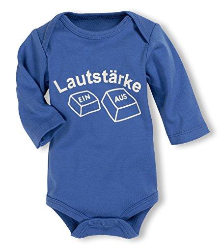 Schnizler Unisex Baby Body Langarm, Lautstärke, Oeko - Tex Standard 100, Gr. 86 (Herstellergröße: 86/92), Blau (blau 7)