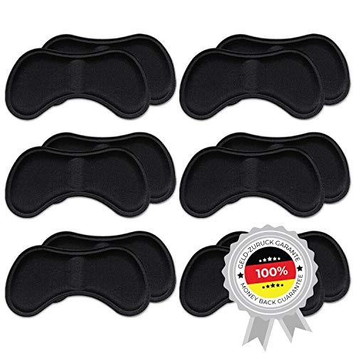 6 Paar komfortable Fersenpolster (verschiedene Farben) | Fersenhalter | Heel Pads | Schuheinlagen | für mehr Komfort und einen besser passenden Schuh | 6x Schwarz