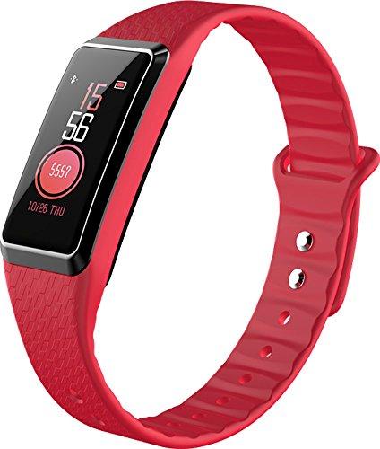 Fitness-Tracker  Aktivitäts-Tracker Pulsmesser Schlaf Monitor Schritt Abstand Kalorien Zähler Schrittzähler Uhr Für Kinder Männer Frauen,Red