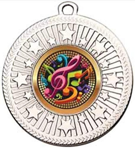 alisierte Medaille VF Star Music Notes, 50 mm Durchmesser, mit Band ()
