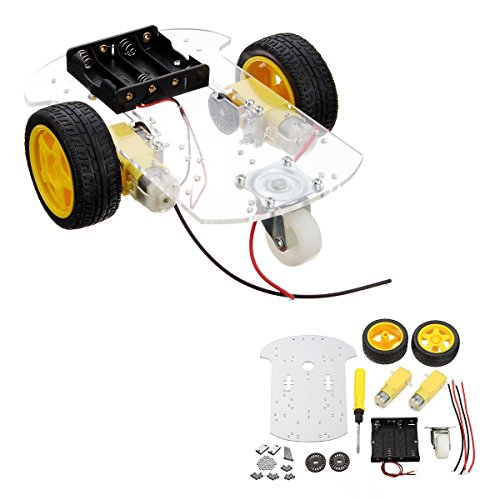 INSMA Motor Smart Robot Car Chassis Kit Speed Encoder Battery Box For