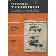 "Revue technique automobile - mai 1979 - n°389 - evolution de la construction volkswagen ""golf scirocco - etude technique citoën gs 1130 gs x3"