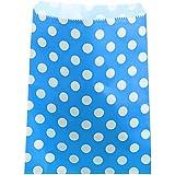 Set de 24bolsas para caramelos en papel diseño de lunares,–Bar de caramelos–Candy Bar