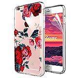 Coque iPhone 6S Plus/iPhone 6 Plus [avec Film de Protection écran HD],OKZone Floral...