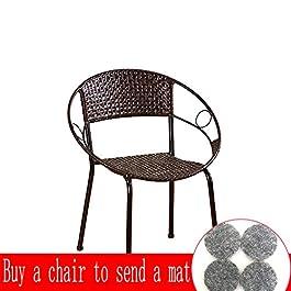 Chaise en rotin Faite Main, Tabouret portatif, Chaise de Jardin, Chaise en Quatre pièces, Tabouret de Table Basse…