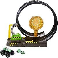 Hot Wheels Monster Trucks Efsane Çember Aksiyonu Oyun Seti, 1 Adet Monster Turck ve 1:64 Ölçekli Araba Dahil GKY00