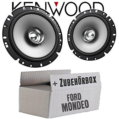 Lautsprecher Boxen Kenwood KFC-S1756-16cm Koax Auto Einbauzubehör - Einbauset für Ford Mondeo MK4 BA7 Front Heck - JUST SOUND best choice for caraudio