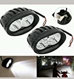 #10: Delhi Traderss 2Pcs Bike Cree Led Smd Fog Lamp Lights Spot For-Royal Enfield Classic