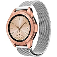 samLIKE Milanese Pulsera de Acero Inoxidable para Samsung Galaxy Watch 42mm–Brazalete Deportivo con Cierre imán Potente, Ajustable para Pulsera para Hombre y Mujer, 5Colores, Color Plata