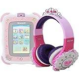 DURAGADGET Casque princesse rose, violet et blanc enfant pour tablette tactile Vtech Storio 2 & 3 Wifi
