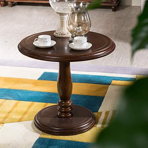 MU Haushaltsendtisch Holz runden beistelltisch europäischen Sofa Seite/Kaffee/Snack/lagerung Wagen Tisch für zu Hause, Wohnzimmer, büro -
