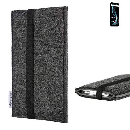 flat.design Handyhülle Lagoa für Allview X4 Soul Infinity Plus | Farbe: anthrazit/grau | Smartphone-Tasche aus Filz | Handy Schutzhülle| Handytasche Made in Germany